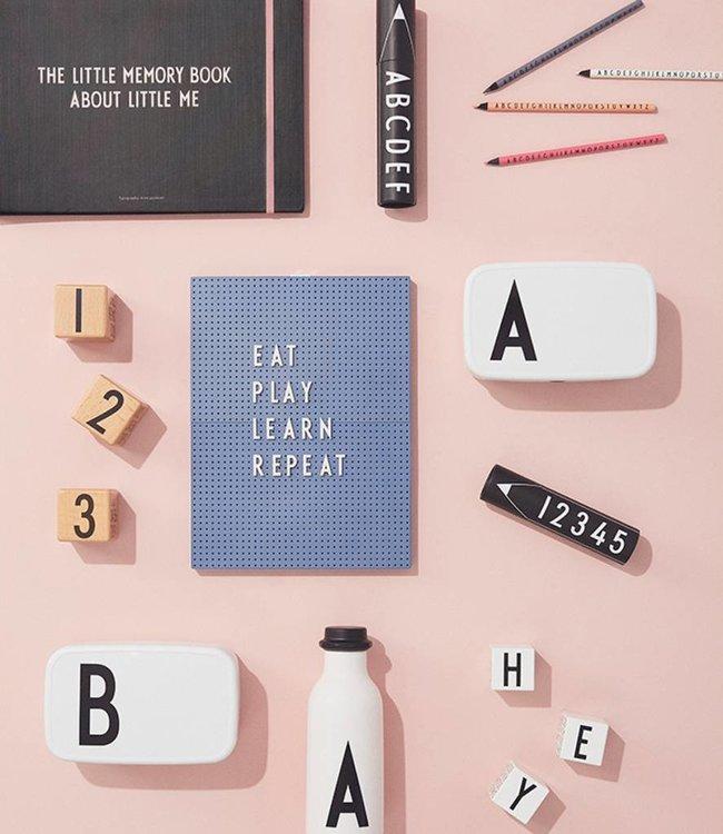 Design Letters Letterbord blauw 29,7x21 cm