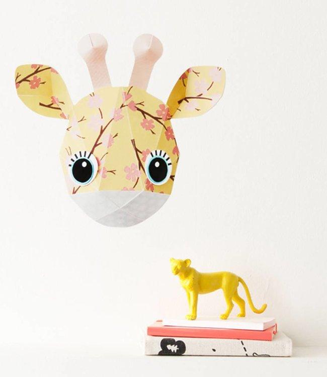 Studio Ditte Muursticker giraf - 27x24cm