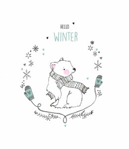 Petite Louise Postkaart - Hello winter