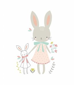Petite Louise Postkaart - Bunny Friends