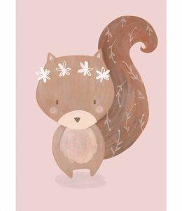 Petite Louise Poster A4 - Eekhoorn