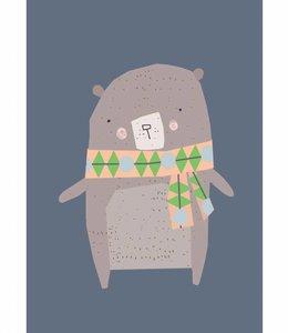 Petite Louise Postkaart - Beer