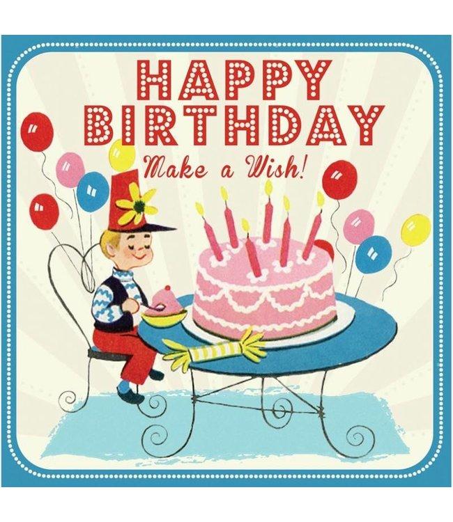 Dotcomgiftshop Retro verjaardagskaart - boy