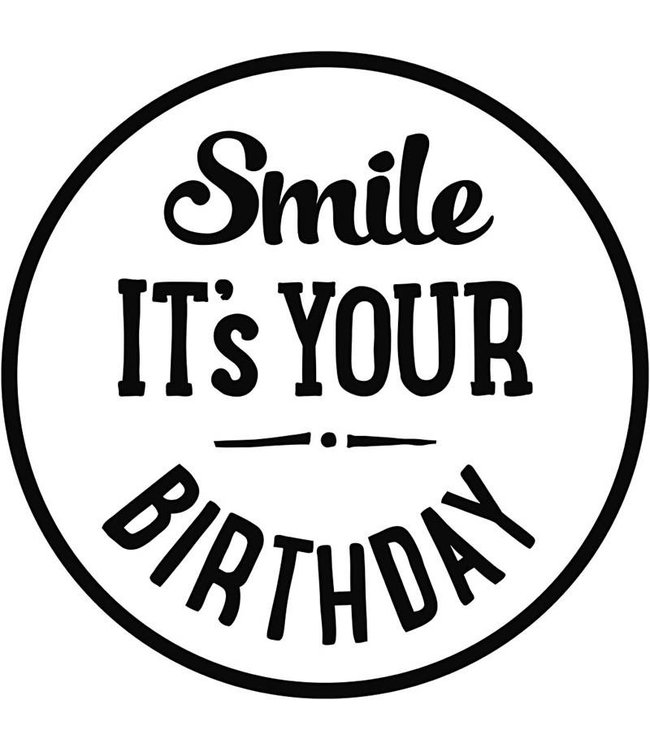 StudioZomooi Houten stempel - Smile it's your birthday