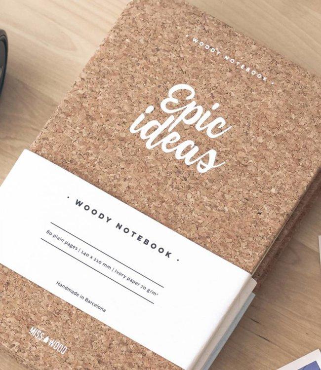 Miss Wood Notitieboek Kurk - Epic Idea