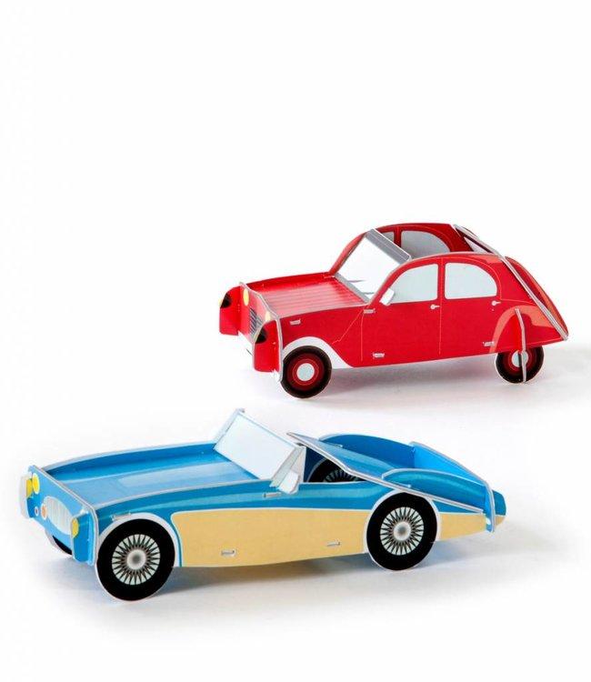 Studio ROOF Cars set van 2 - Red & Blue