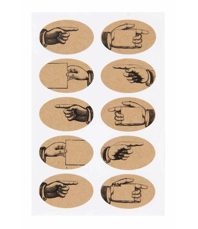 Rico Design Kraft sticker - hand