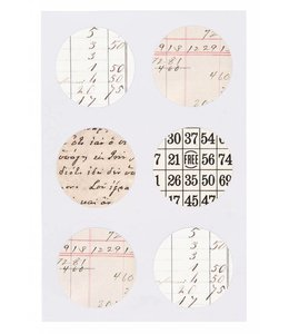 Rico Design Kraft sticker - retro notes