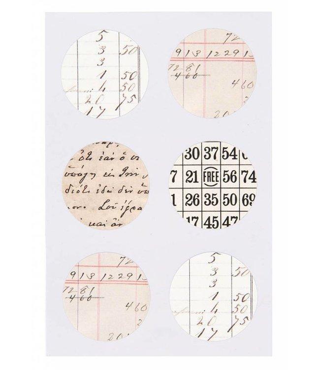 Rico Design Kraft sticker - retro notes