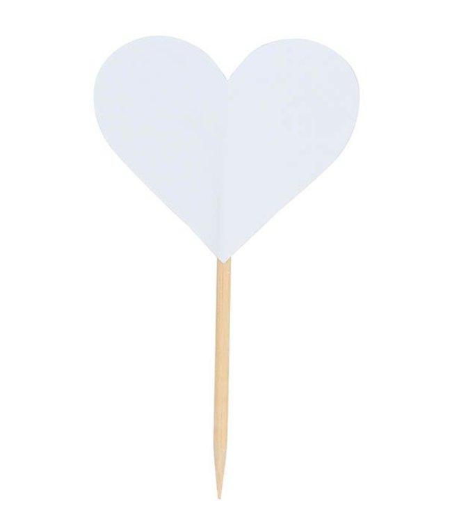 Rico Design Prikkertjes hart - wit