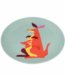 Dotcomgiftshop Melamine bord - kangoeroe