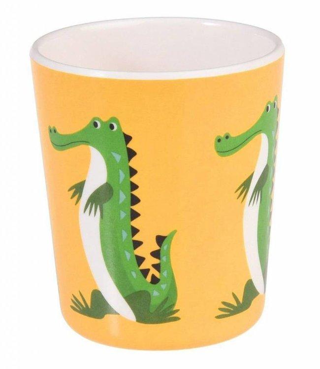 Dotcomgiftshop Melamine beker - krokodil