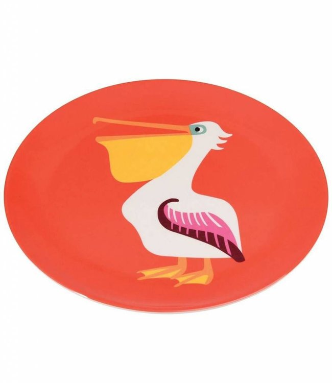 Dotcomgiftshop Melamine bord - pelikaan