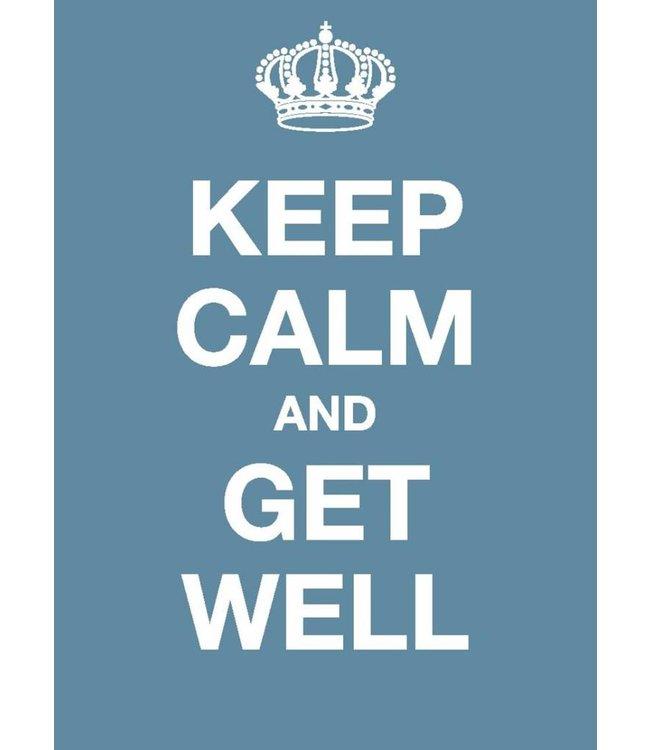 Dotcomgiftshop Postkaart - Keep Calm and Get Well