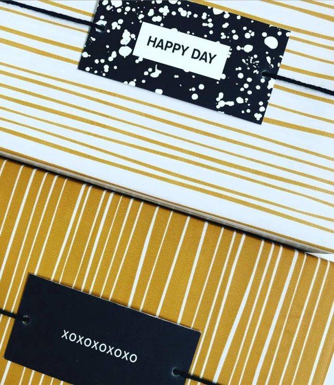 Jurianne Matter 6 Cadeau labels - Happy Day
