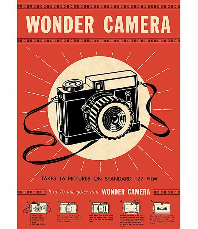 Cavallini & Co Poster/cadeaupapier - Wonder camera