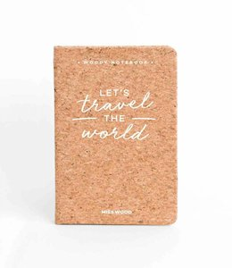 Miss Wood Pocket notitieboek Kurk - Travel the World