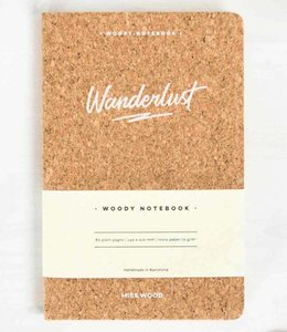 Miss Wood Notitieboek Kurk - Wanderlust