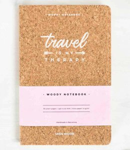 Miss Wood Notitieboek Kurk - Travel