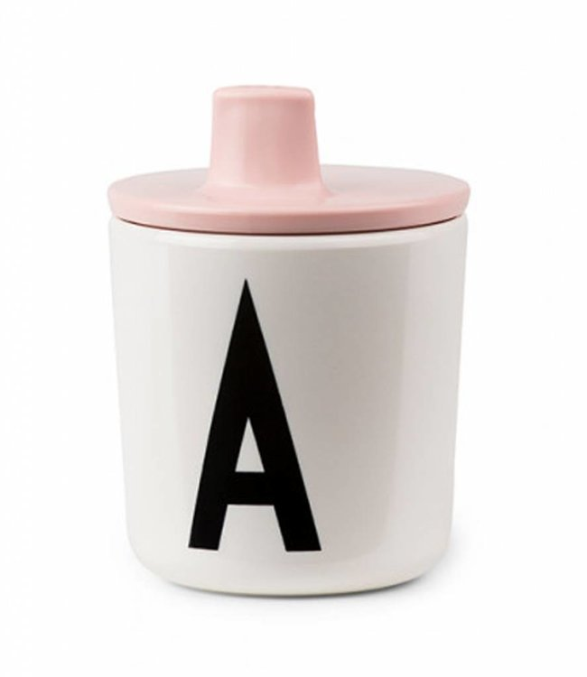 Design Letters Deksel voor melamine beker - roze