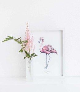 Bintje Poster A4 - Flamingo