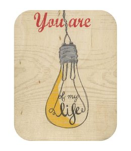 Forever Handmade Cards Houten kaart - The light of my live