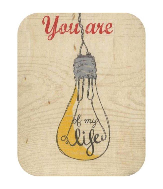 Forever Handmade Cards Houten kaart - The light of my live
