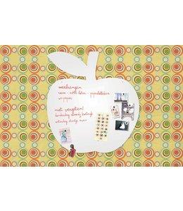 Wonderwall Extra groot whiteboard/magneetbord - Appel