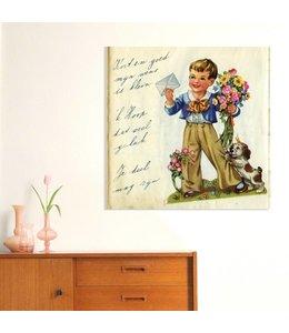 Poster poëzieplaatje - Jongen