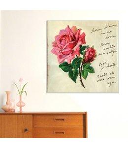 Poster poëzieplaatje - Roos