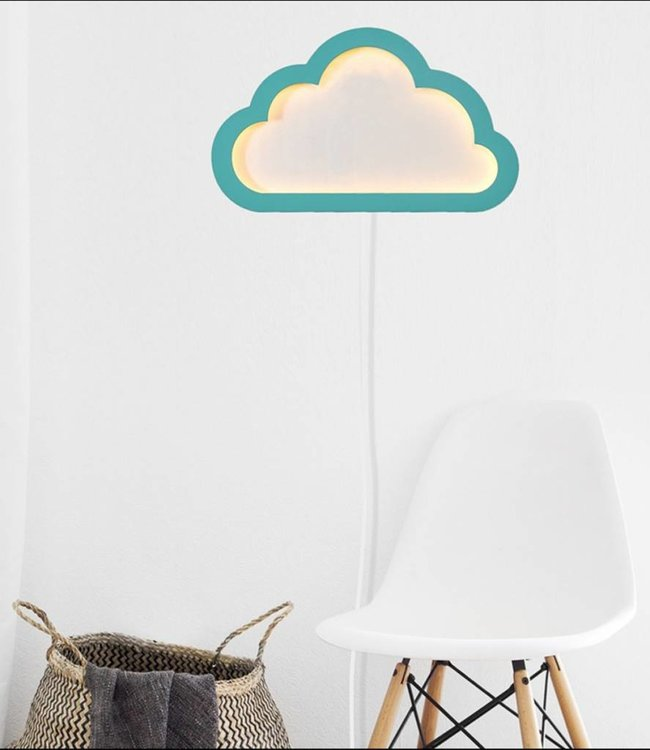 BB Collections Dimbare LED Wandlamp wolk - Blauw