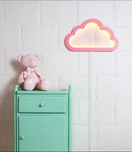 BB Collections LED Wandlamp wolk - Roze