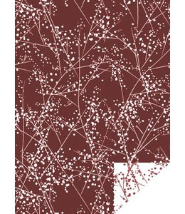 Jurianne Matter Cadeaupapier - Paris Winter Chic Rood