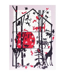 Forever Handmade Cards Lasergesneden kaart - safari