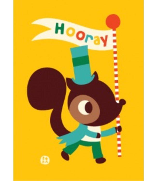 Bora Postkaart - Feest - eekhoorn