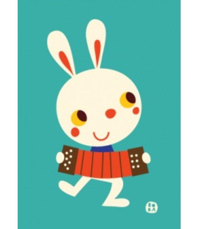Bora Postkaart - Feest - konijn