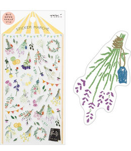 Midori Japan Stickers - Gedroogde bloemen