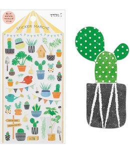 Midori Japan Stickers - Cactus