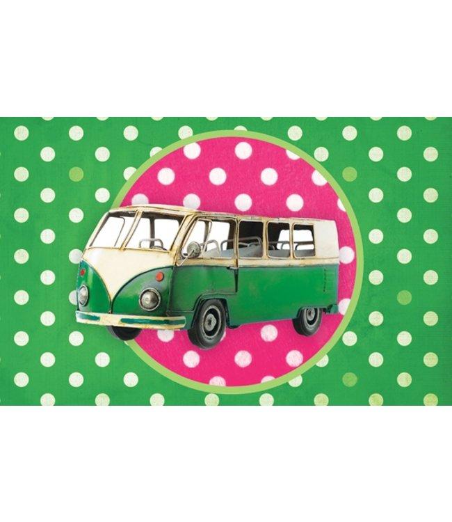Leuke kaartjes Kaart - Groene bus