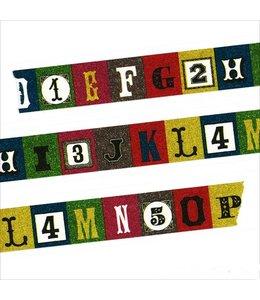 Maste Washi Tape 2cm - Alfabet
