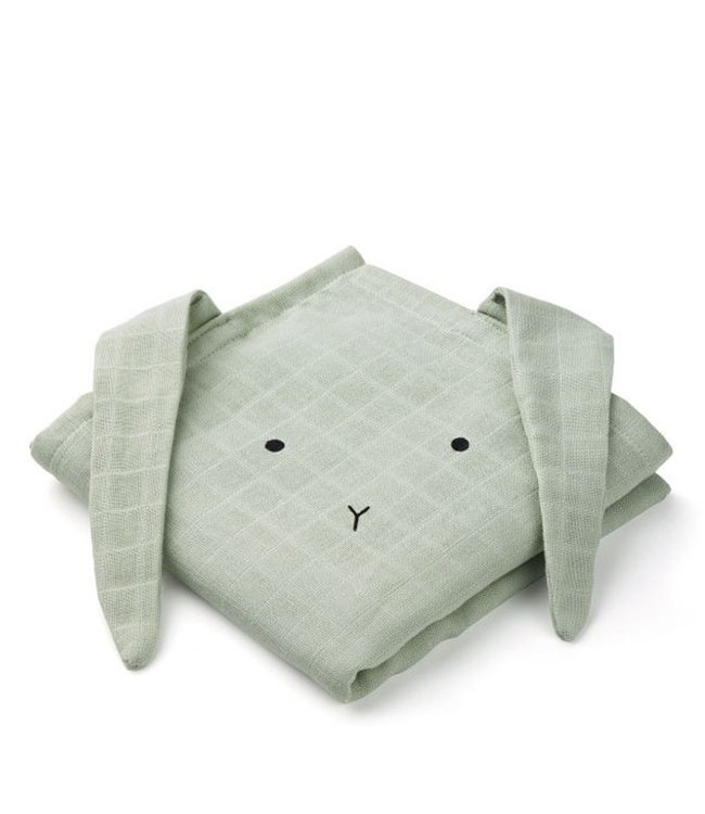 Swaddle set van 2 - Mint konijn