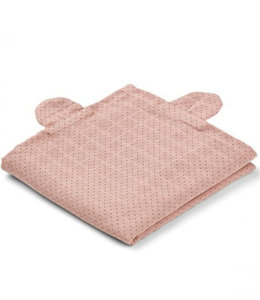 Liewood Swaddle set van 2 - Beer Roze stipjes