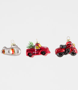 Sass & Belle Mini kerstboom hangers set van 3 -  transport