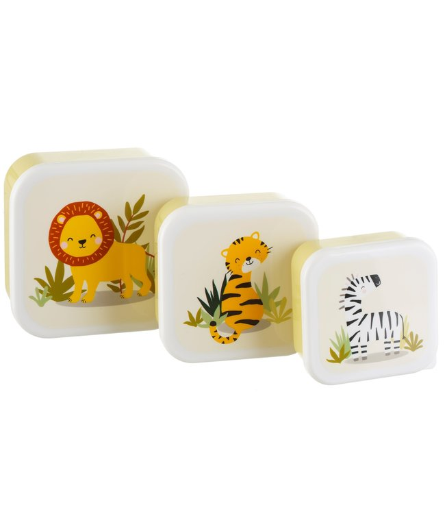Sass & Belle Snack doosjes set van 3 - Safari
