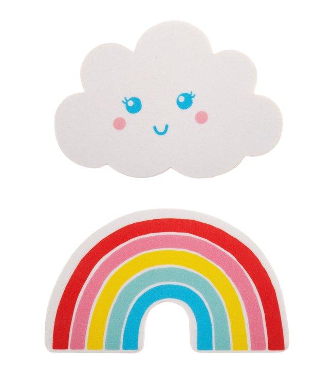 Sass & Belle Nagelvijltjes set van 2 - Regenboog & Wolk