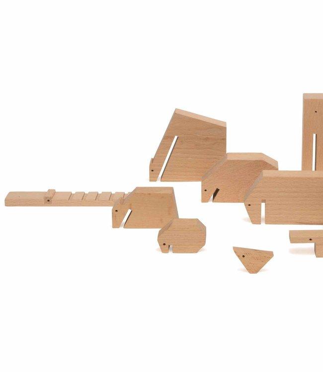 Ikonic Toys Floris Hovers Houten dieren - Blank