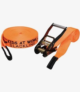 Kids at Work Slackline Oranje 17,5 meter