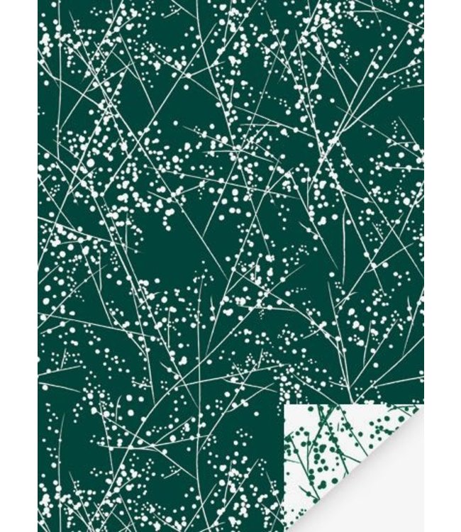 Jurianne Matter Cadeaupapier - Paris Winter Chic Groen