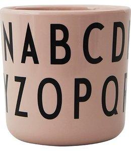 Design Letters Melamine ABC beker - Roze