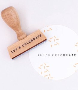 Perlenfischer Stempel Let's Celebrate